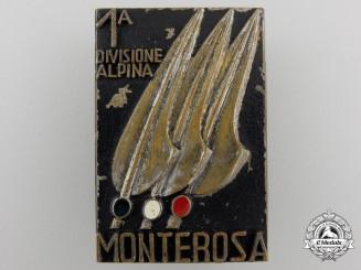 A Second War Italian 1st Divisione Alpina Badge