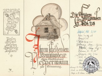 An Interesting Farewell Card to Colonel of the Luftwaffe from Officers