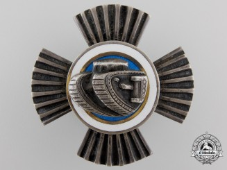 A 1930's Estonian Tankist Badge by W. Preis