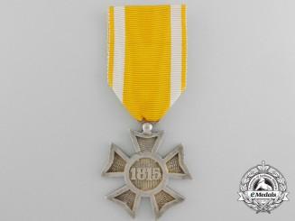 Netherlands, Kingdom. A Napoleonic 1813-1815 Dutch Silver Cross