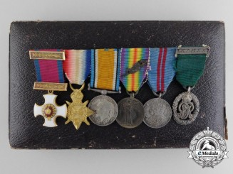 A Fine Gold Distinguished Service Order Miniature Grouping