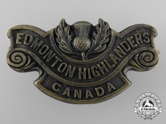 A 194th Battalion Edmonton Highlanders of Canada Shoulder Title