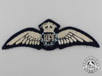 A Second War Royal Australian Air Force (RAAF) Pilot Wing