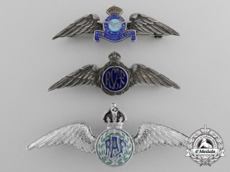 Three Second War Royal Air Force (RAF & RCAF) Sweetheart Pins