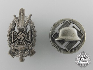 Two German Veteran Organisation Badges