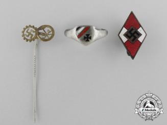 Three Second War German Badges & Insignia