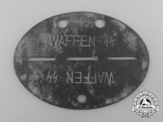 "A German ID Tag,  Waffen-SS, ""SS-Pz.Gren.A.u.E.Btl. 1"""