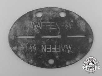"""Germany, SS. An ID Tag,  Waffen-SS, """"SS-Pz.Gren.A.u.E.Btl. 1"""""""