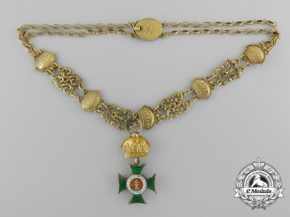 An Imperial Austrian Miniature Order of St. Stephen c.1900