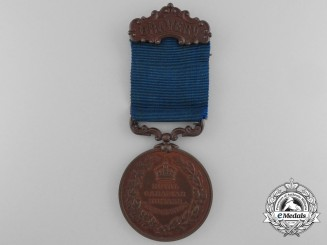 A Royal Canadian Humane Association LIfe Saving Medal to Alvin E. Luck of Barrie, Ontario