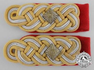 A Pair of German Army (Heer) Generalleutnant's Shoulder Boards