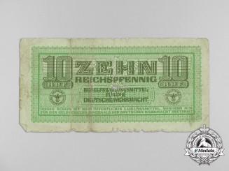 A Wehrmacht Inter-Armed Forces 10 Reichspfennig Currency