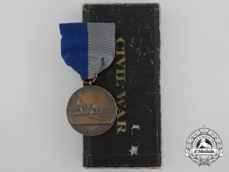 An American Navy Civil War Campaign Medal for Service Aboard U.S.S. Vincennes