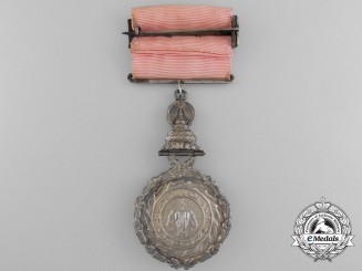 A Most Illustrious Order of Chula Chom Klao of Thailand; Member 's Breast Badge, 4th Class,