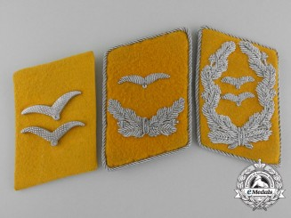 A Lot of Three Luftwaffe Flight Personnel Collar Tab Insignia
