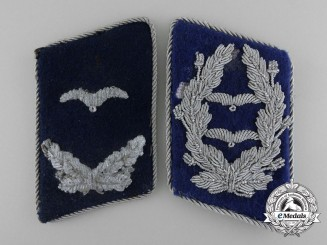 A Lot of Two Luftwaffe Medical Personnel Collar Tab Insignia