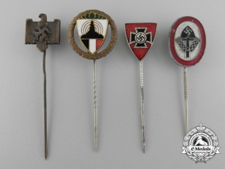 A Lot of Four German Stick Pins