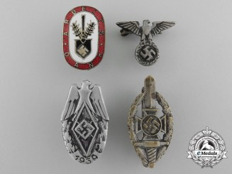 A Lot of Four German Badges