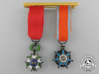 A Pair of Miniature French Orders