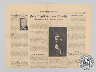 A 1942 Berlin Local Journal Artcile on Hermann von der Lieth-Thomsen