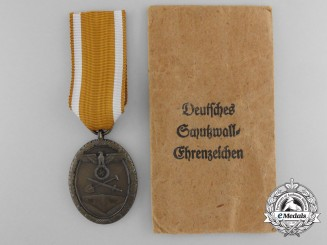 A Mint German Defence Wall (West Wall) Medal with Envelope of Issue