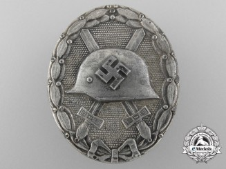 A German Second War Silver Grade Wound Badge by Carl Wild