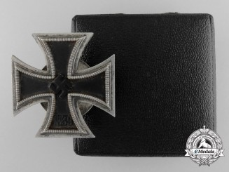 A 1939 First Class Iron Cross with Case by Friedrich Orth, Wien