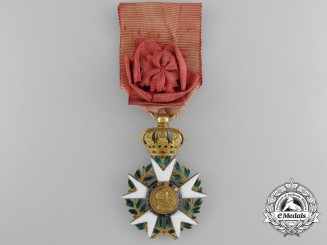 A French Legion D'Honneur; Officer, in Gold, First Empire Type III Cross (1806-1808)