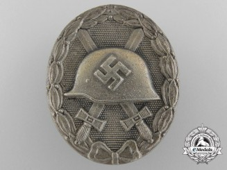 "A Second War German Silver Grade Wound Badge; Marked ""92"""