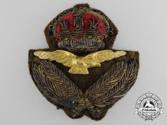 A Royal Australian Air Force (RAAF) Officer's Cap Badge