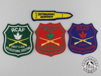 Four Royal Canadian Air Force (RCAF) Marksman Jacket Patches