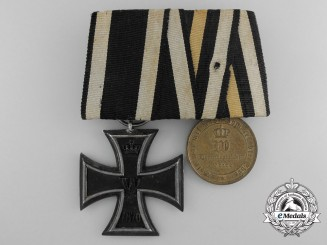 An 1870 Iron Cross 2nd Class Pair, Franco-Prussian War