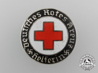 A German Red Cross Female Helper's Service Badge