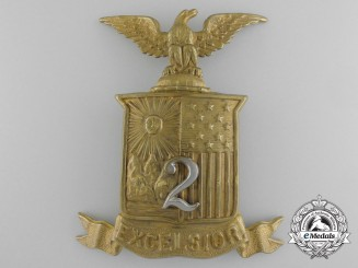 A United States Civil War Era New York State 2nd Excelsior Brigade Shako Cap Badge