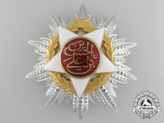 A Royal Jordanian Order of Independence (Wisam al-Istiqlal); Breast Star