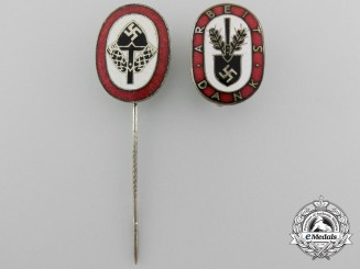 A Lot of Two Reichsarbeitsdienst Badges