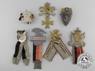 A Lot of Seven German First War Veteran's Association Badges