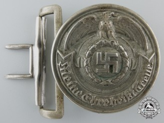 "A Rare Early SS Officer's Belt Buckle by ""O & C ges. gesch. RZM"""