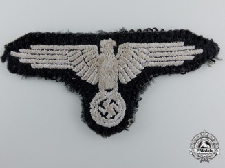 An SS EM/NCO's Wool Sleeve Eagle; Scarce Weave On Tunic Cloth