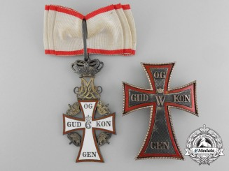 A Danish Order of Dannebrog; Commander 1st Class Set by Anton Michelsen