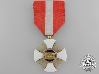 An Italian Order of the Crown; Knight's Cross in Gold