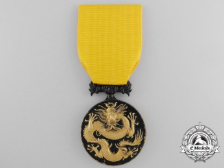 United States. An Order of the Dragon to Captain Hughes, Personal Staff of Major General Chaffee