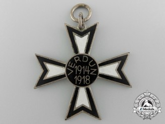 An Imperial German Battle of Verdun Commemorative Cross by Fleck & Sohn