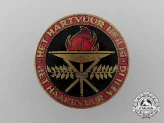 A c.1938 Dutch National-Socialist Women's Federation Enameled Badge