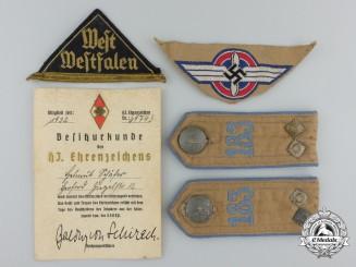 An HJ Grouping from Estate of 'Scharführer Helmut Schäfer aus Herford'