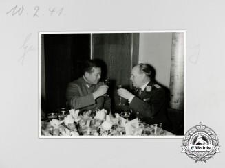 A Press Photo of Generalfeldmarschall Albert Kesselring with Japanese Officer