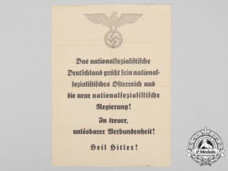 A 1938 Anschluss Welcome Poster
