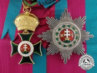 The Order of St. Stephen Grand Cross Awarded to Ferdinand I, Tsar of Bulgaria