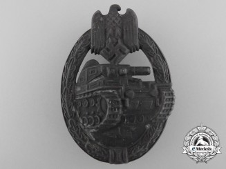 A Bronze Grade Tank Assault Badge by Frank & Reif
