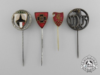 A Lot of Four German Second War Stick Pins